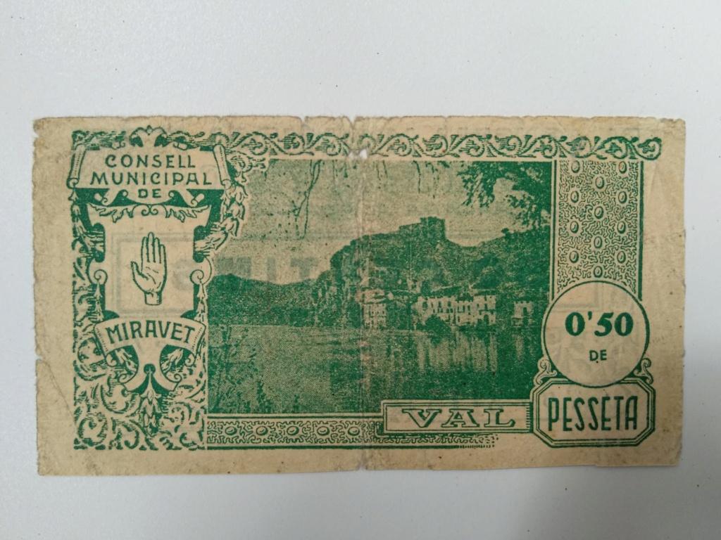 50 cèntims de Miravet (Ribera d'Ebre). Juny 1937.  Whatsa19