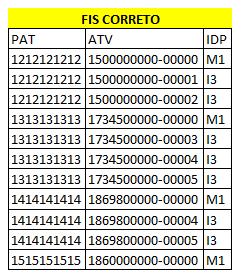 Numeração com final sequencial usando informações de duas tabelas 210