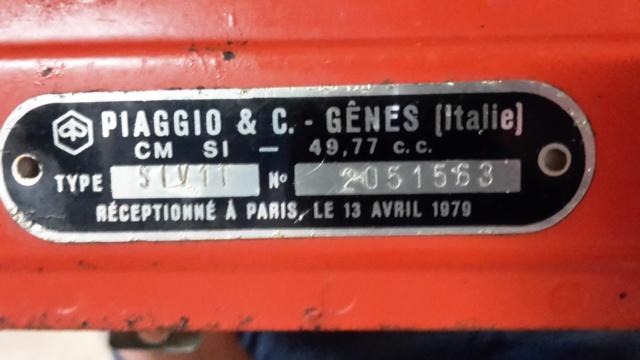 Bonjour à tous, de Bretagne, avec un Piaggio Vespa SI 20180835