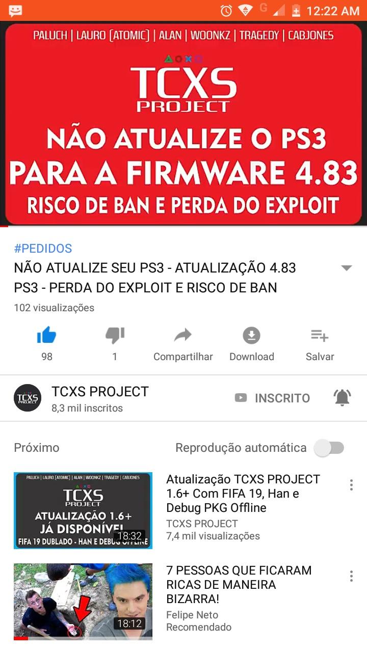ATUALIZAÇÃO PS3 4.83 20181010