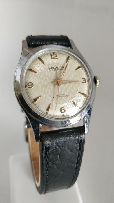 Relógio vintage Helvetia (anos 50), mecânico, a corda manual Helvet15
