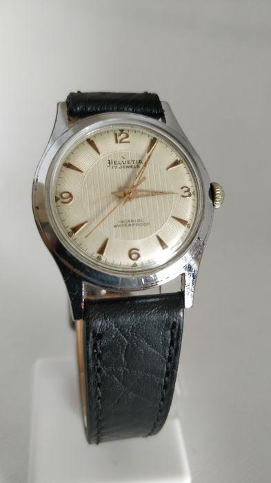 Relógio vintage Helvetia (anos 50), mecânico, a corda manual Helvet16