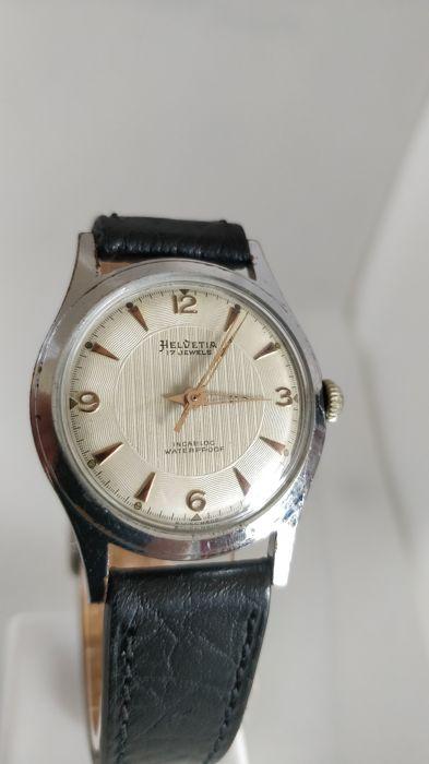 Relógio vintage Helvetia (anos 50), mecânico, a corda manual Helvet17