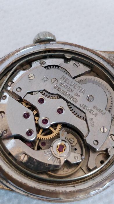 Relógio vintage Helvetia (anos 50), mecânico, a corda manual Helvet18