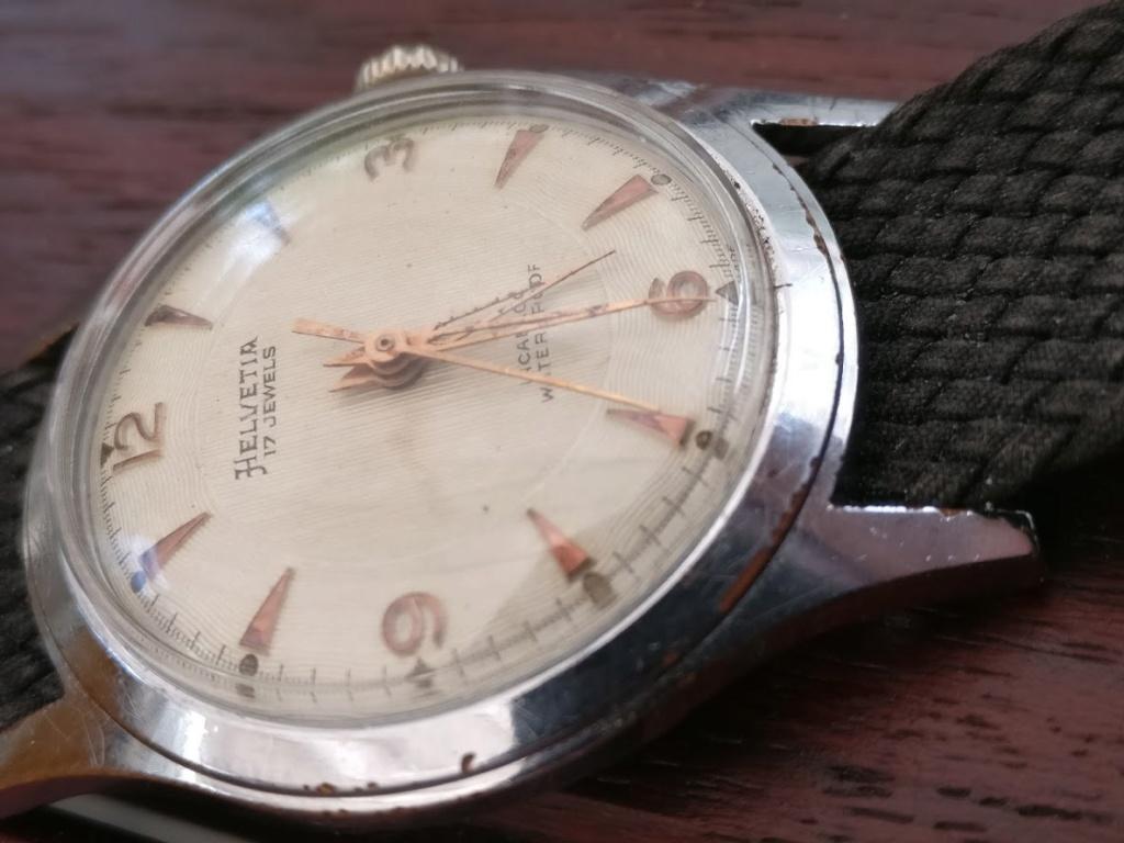 Relógio vintage Helvetia (anos 50), mecânico, a corda manual Img_2132