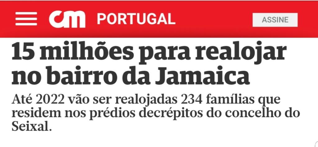 15 milhões para o bairro da Jamaica  versus idosa desalojada 20190112
