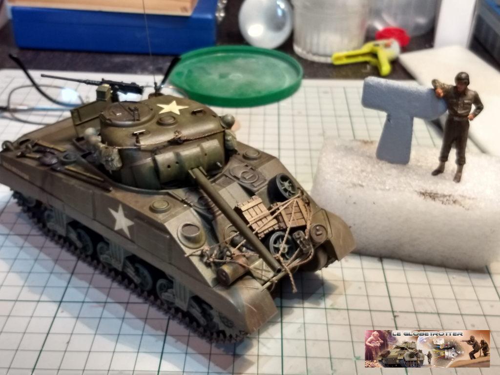 """Sherman M4 - avec tourelle de 76 mm - Tamiya 1/35 """"utopie"""" Sherma19"""