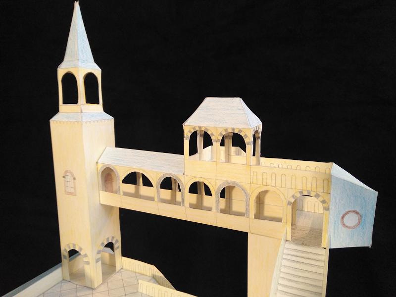Selbst entworfene Gebäudemodelle von Michael 97 Aussic11