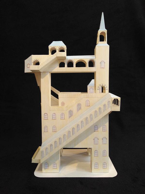 Selbst entworfene Gebäudemodelle von Michael 97 Aussic12