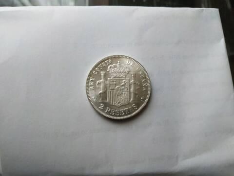 2 pesetas 1894. Alfonso XIII. Opinión 20190912
