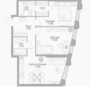 """Планировки квартир в ЖК """"Крылья"""" - полный разбор: что в наличии вообще и что есть сейчас в продаже. Плюсы/минусы Aa_aou12"""