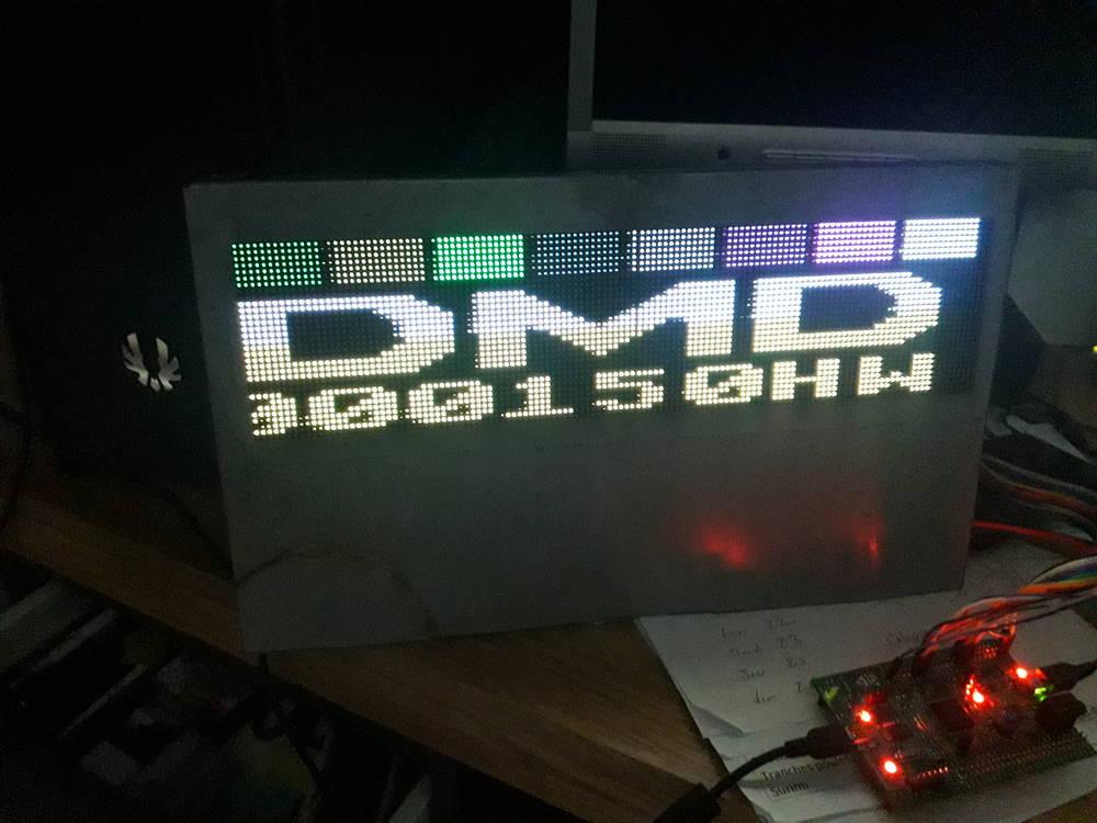 [RÉSOLU] Demi affichage sur le DMD 210