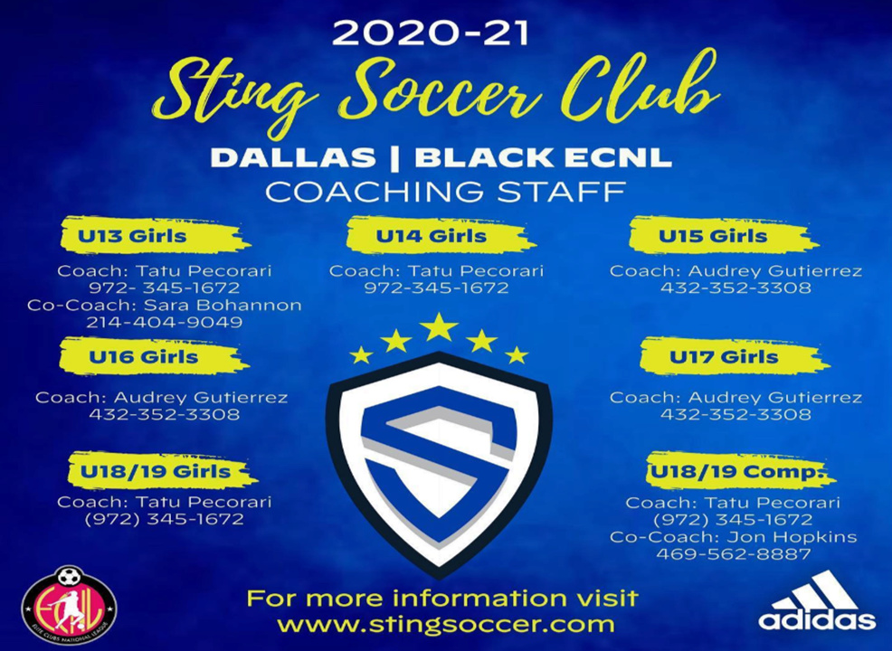 Sting Black U14 ECNL Open Practices Sing_u10