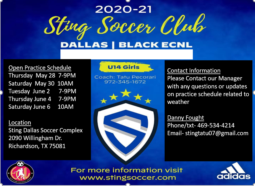 Sting Black U14 ECNL Open Practices Sting_10