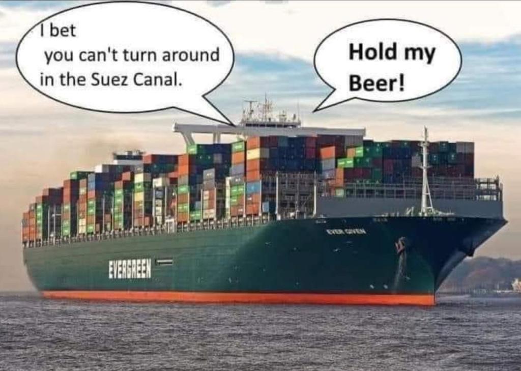 """Échouage du porte container """"Ever Given"""" dans le canal de Suez - Page 2 Beerpl10"""