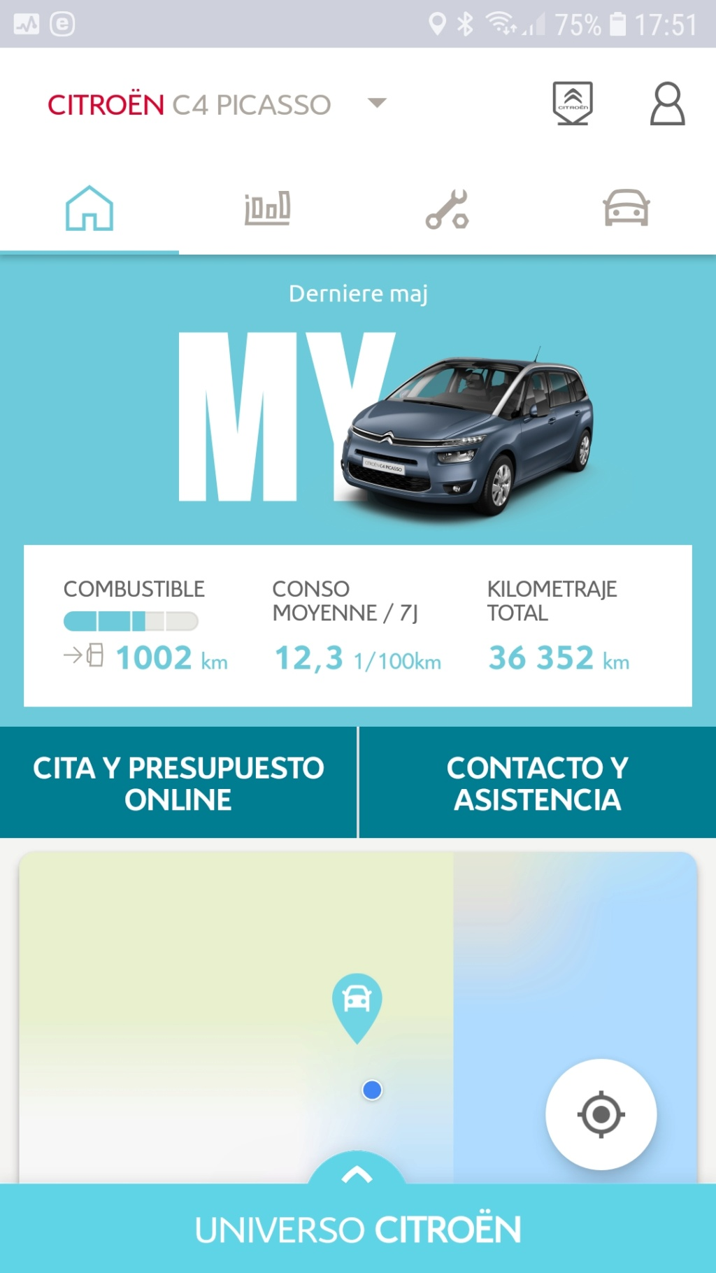 Fallo aplicación My Citroën al comenzar Screen10