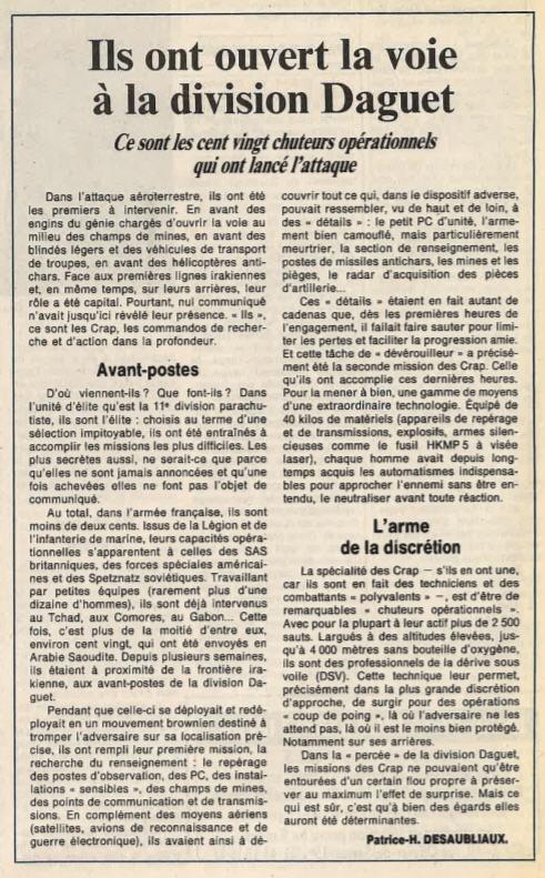 Le 1er GCP il y a 30 ans le 23 Février 1991 310
