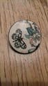 Brooch made from painted enamel (?) on a 1940s penny 20201212