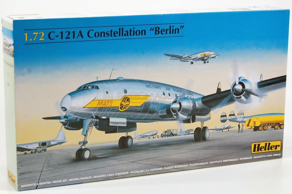 [HELLER] LOCKHEED CONSTELLATION C-121-A MATS BERLIN 1948 - 1949 1/72ème Réf 80382 Heller10