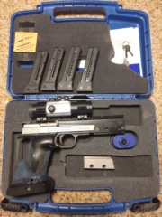 SOLD, pending funds: Hammerli Xesse, UD MatchDot, mount, trigger, weight, 4 mags, $800+ ship Xesse10