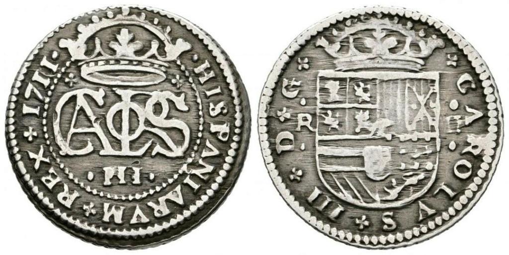 2 Reales de Carlos el Pretendiente, Barcelona, 1711 - Página 2 Carlos10