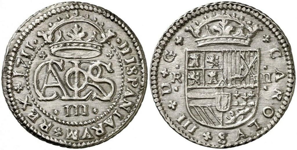 2 Reales de Carlos el Pretendiente, Barcelona, 1711 - Página 2 Carlos11