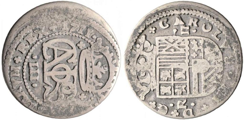 2 Reales de Carlos el Pretendiente, Barcelona, 1711 - Página 2 Carlos13