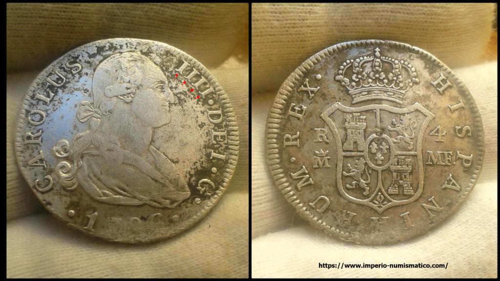 4 reales Carlos IV Madrid. 1796.  Column10