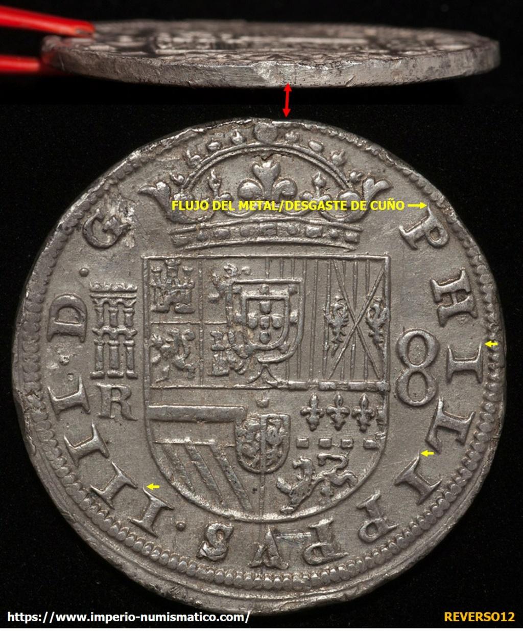 8 reales Felipe IV Segovia 1635. Imagen14