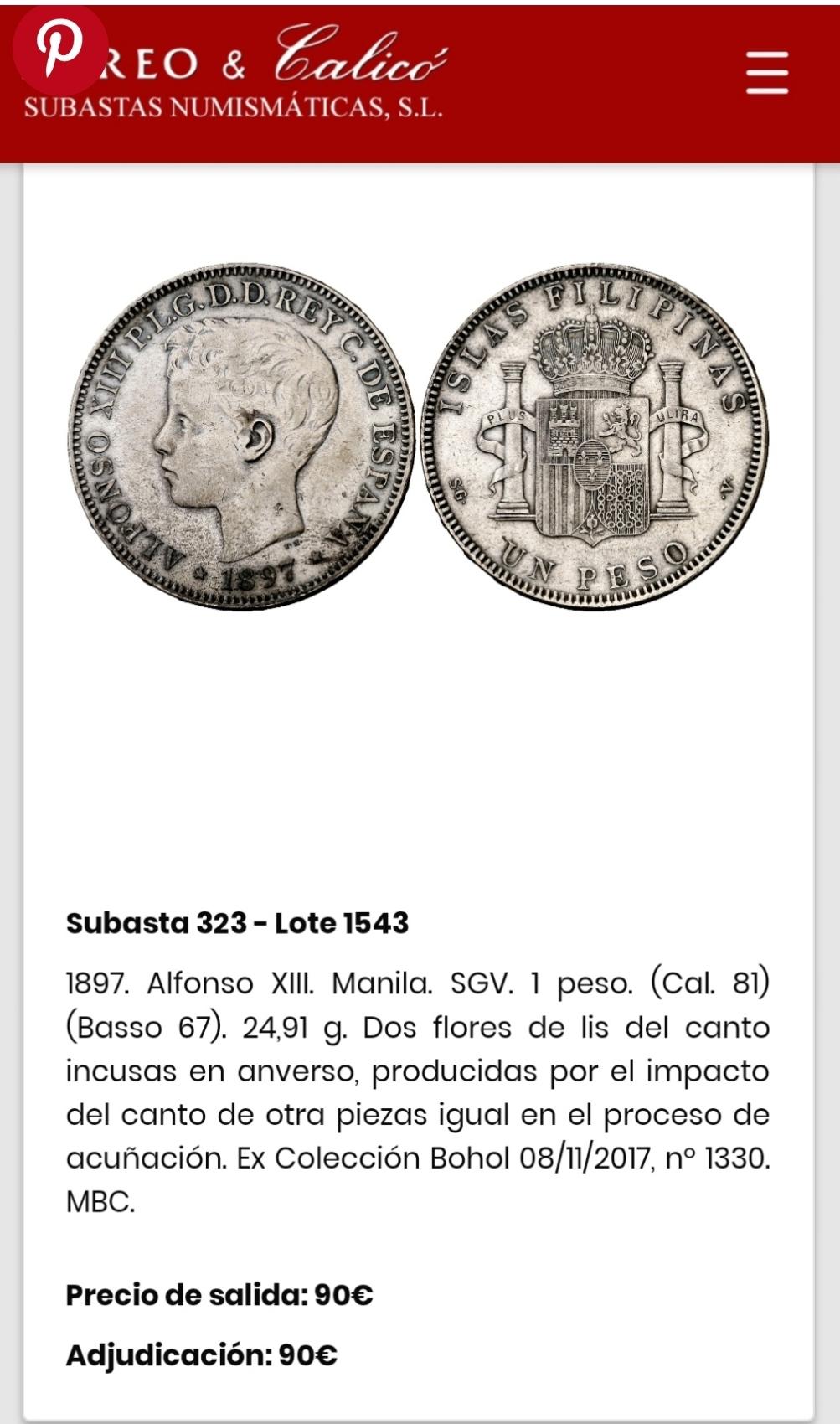 5 Pesetas de 1.891, Alfonso Xlll. Contramarcada con una flor de lys. Img_2010