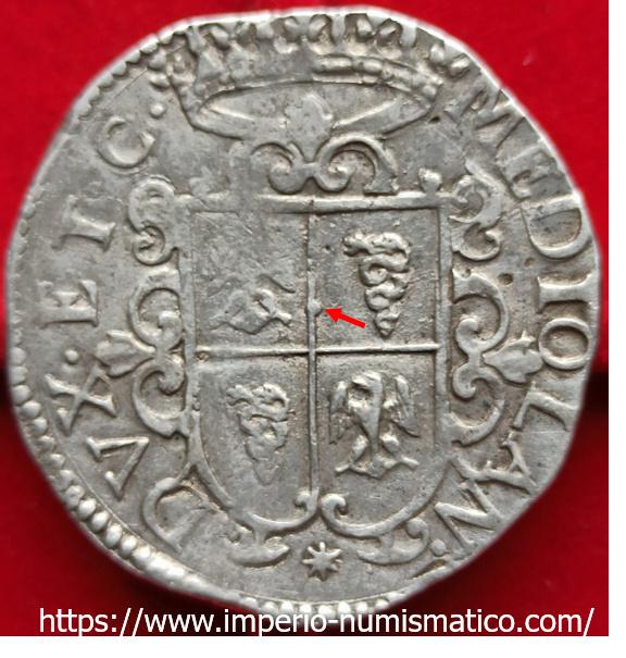 ducatón de Felipe IV de Milán 1622 Imperi10