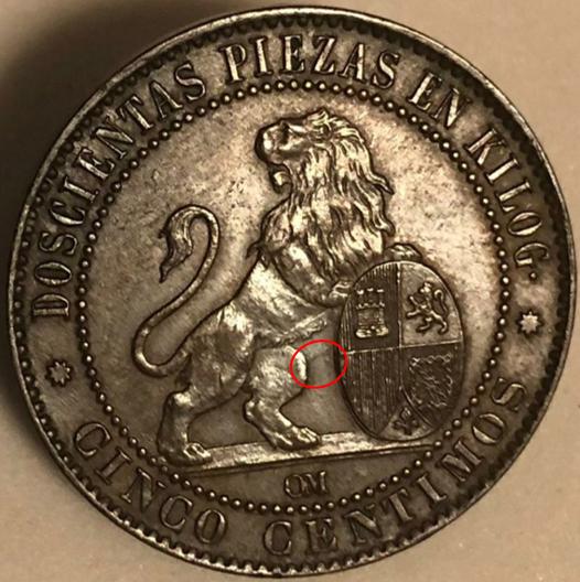 5 céntimos 1870. Gobierno Provisional Imperi10