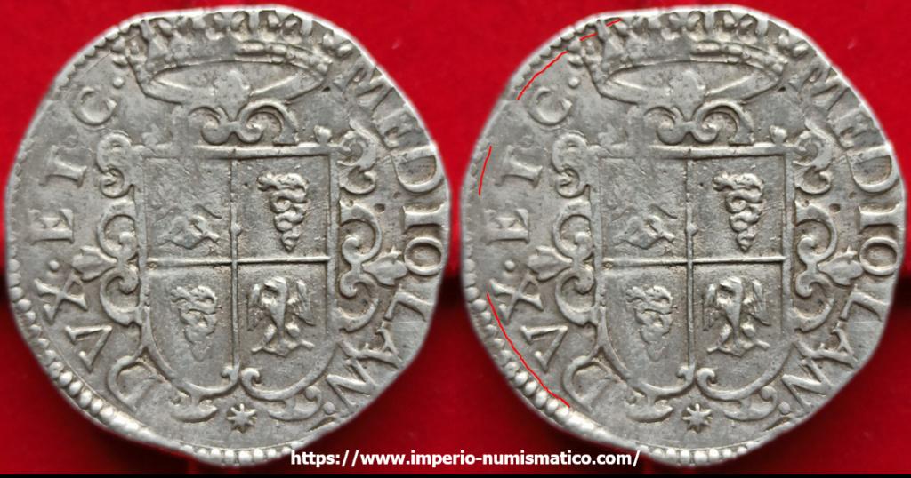 ducatón de Felipe IV de Milán 1622 Imperi11