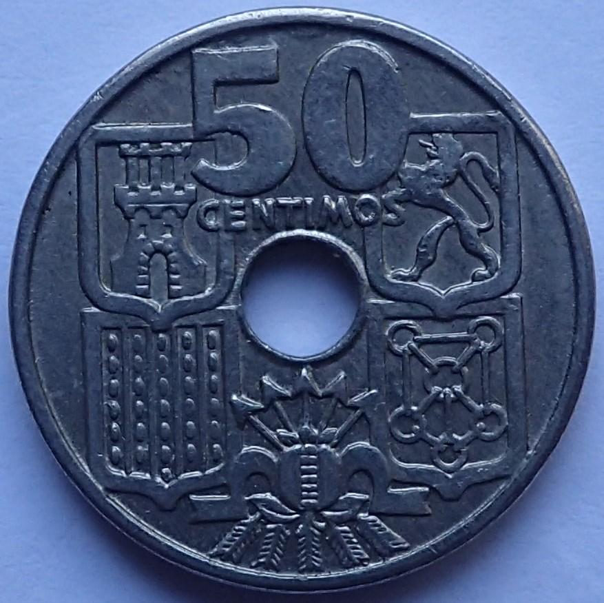 50 Centimos 1963*19-65.Estado Español P1290313