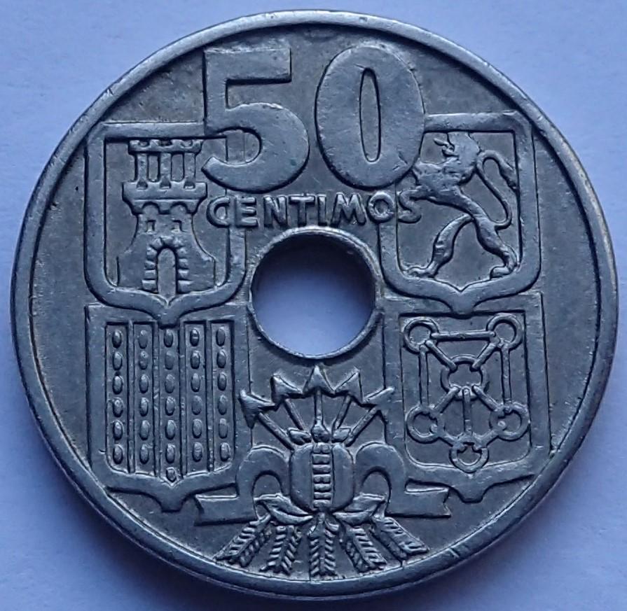 50 Centimos 1963*19-65.Estado Español P1290314