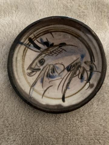 Tiny fish dish - maker? 25505510