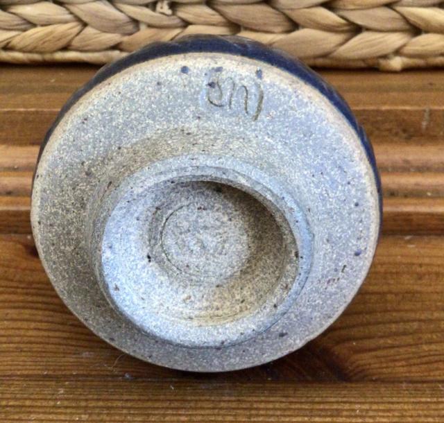Fluted stoneware cup SN mark - Stefanie Newton  3989c710