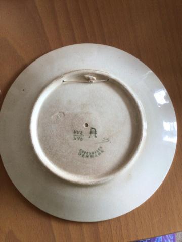 Copenhagen flower plate  44db3e10
