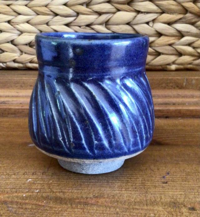 Fluted stoneware cup SN mark - Stefanie Newton  50562110