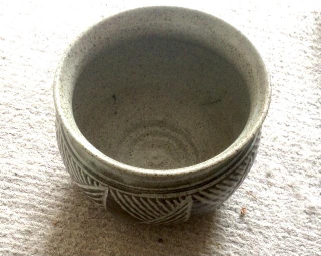 Stoneware planter - Mantenga Pottery, Swaziland, South Africa 1970s 80893d10