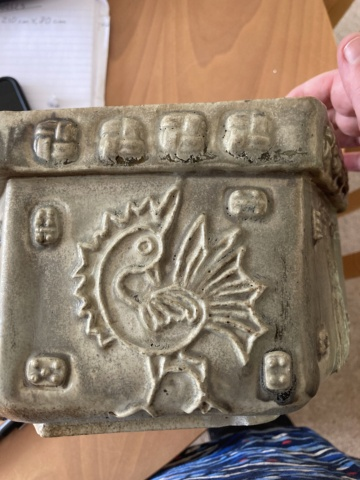 Large 1970s stoneware planters, CC mark - ID? A5485510