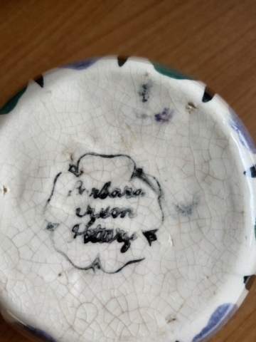 Barbara something pottery? Cb75cc10