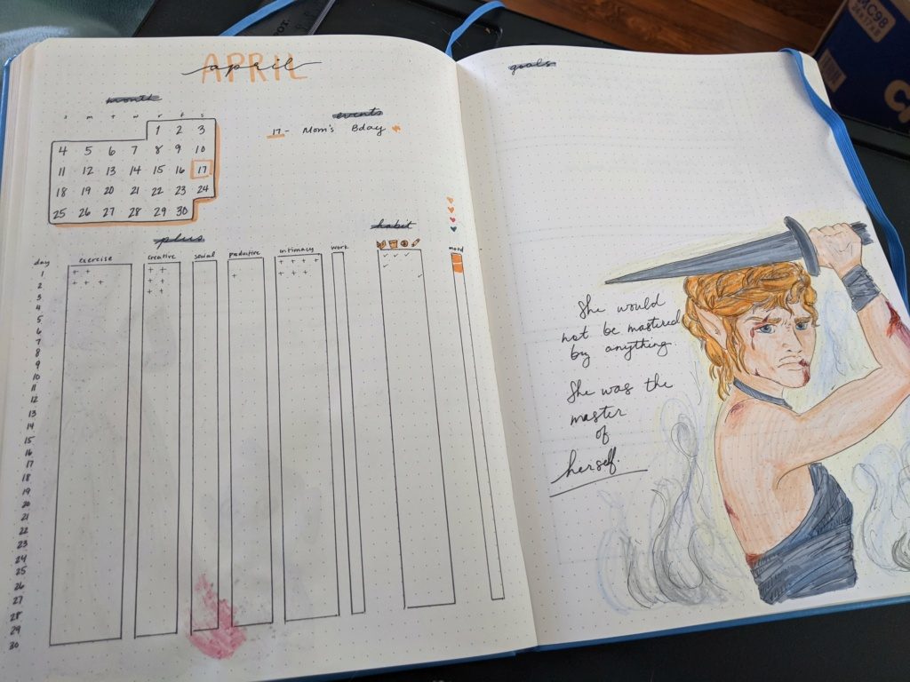 Craft: Bullet journal monthly spread Pxl_2010
