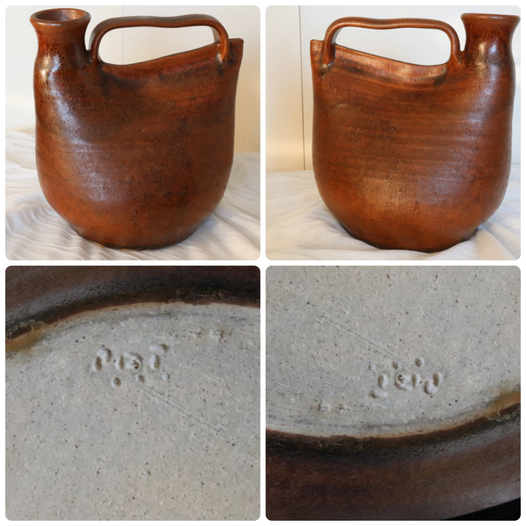 NZ POTTERY? marks to base - dots?? Brown_18