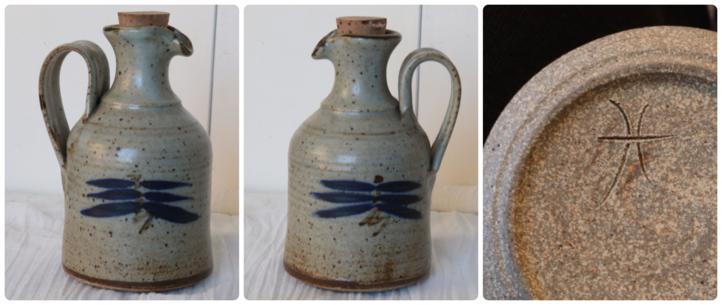 POTTERY JUG - marked to base with 'H'? = JOHN MADDEN H10
