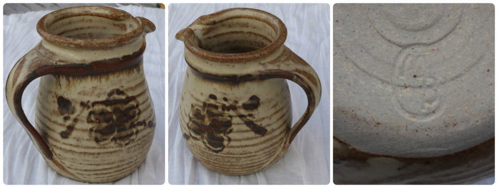 POTTERY JUG - MARKED MB TO BASE Mb_to_10