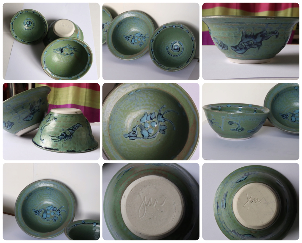 NZ POTTERY? signed to base - maybe 'Jim'? Three_10