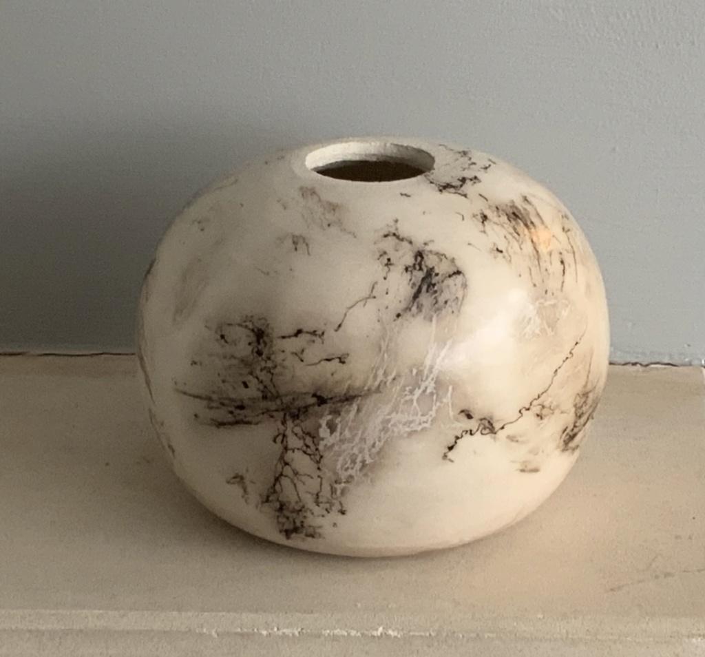 Naked raku vase, CF mark  11b77310