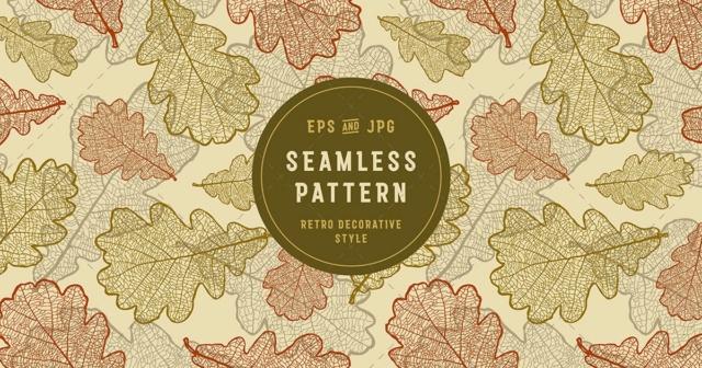 Seamless Oak Pattern 39720710