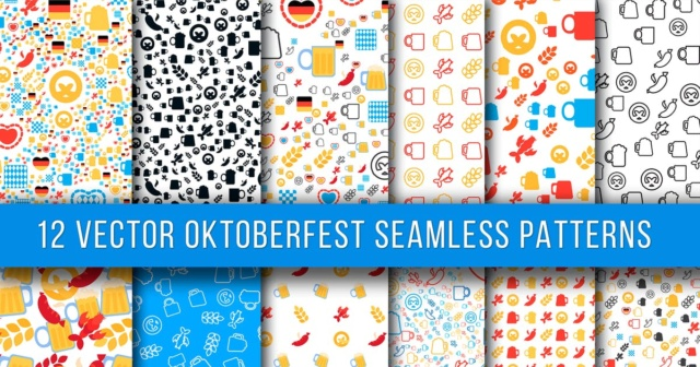 12 Oktoberfest Seamless Patterns 3bfd6210